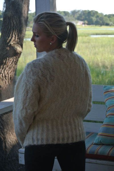 Ivory mohair cardigan   Mohair cable knit, Cable sweater