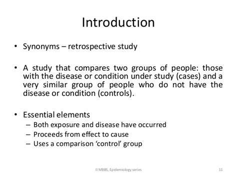 Research Methodology - Case control study