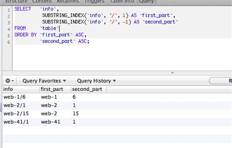 php - MYSQL select a piece of a string and order by that