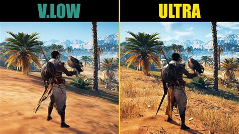 Assassin's Creed: Origins Very Low vs