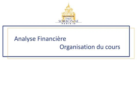 PPT - Analyse financière PowerPoint Presentation, free