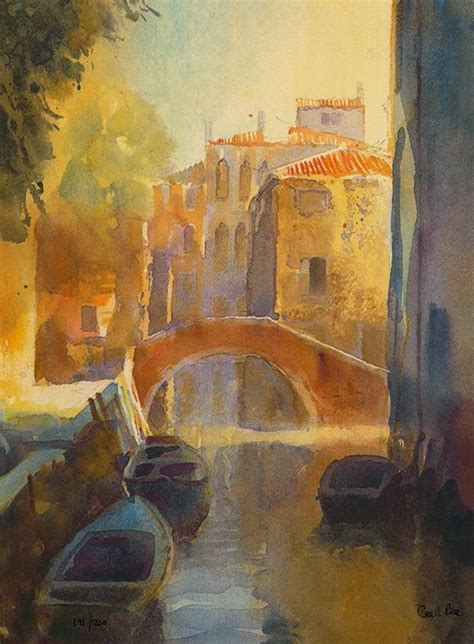 Venetian Canal II - Print by Cecil Rice // £186