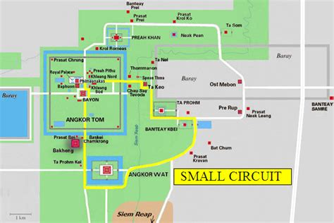 Angkor Map and overview - a tourist introduction