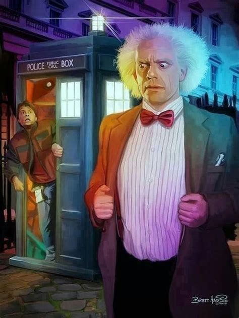 Brilliant DOCTOR WHO and BACK TO THE FUTURE Mashup Art