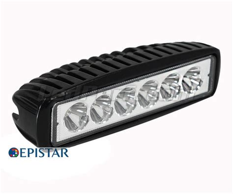 Phare additionnel LED compact Rectangulaire 18W pour 4X4