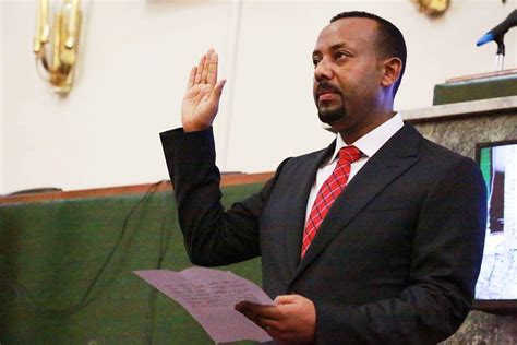 Dr Abiy Ahmed Sworn in as Ethiopia's Prime Minister