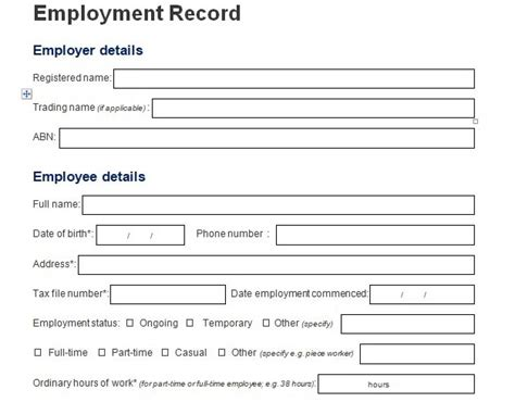 Employee Information Form Template (Download) | Excel124