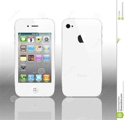 Vector Iphone 4 White Editorial Image - Image: 17137935