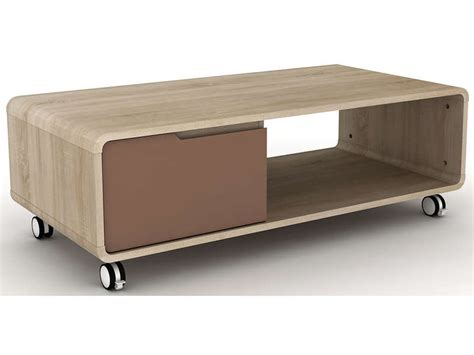 table basse a roulettes conforama