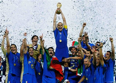 Ten iconic Italy-France moments - Cannavaro goes up for