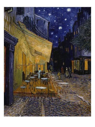 Cafe Terrace at Night Giclee Print by Vincent van Gogh at