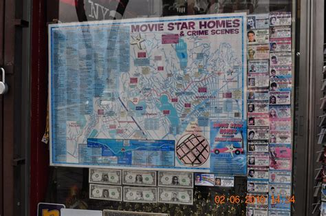 Map of Movie Star Homes & Crime Scenes | Do not approach
