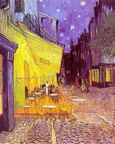 Vincent van Gogh Cafe Terrace at Night painting anysize 50