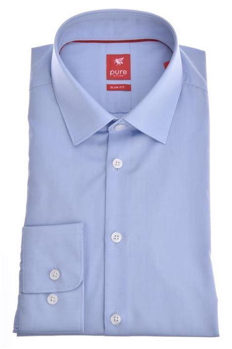 "Chemise Pure ""Slim Fit Stretch"" bleue clair 3355"