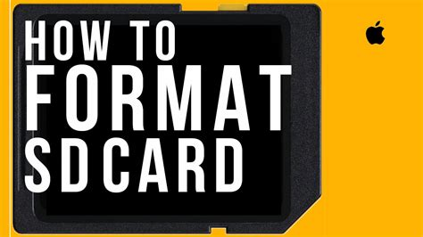 How to Format any SD CARD on Mac and Windows, how to set