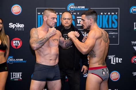 John Wayne Parr face off Piergiulio Paolucci - weigh-in