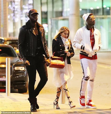 Paul Pogba And His Girlfriend, Maria Step Out After