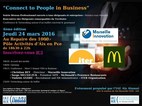 Connect To People in Business N°4 - 24 mars 2016 - Réseau