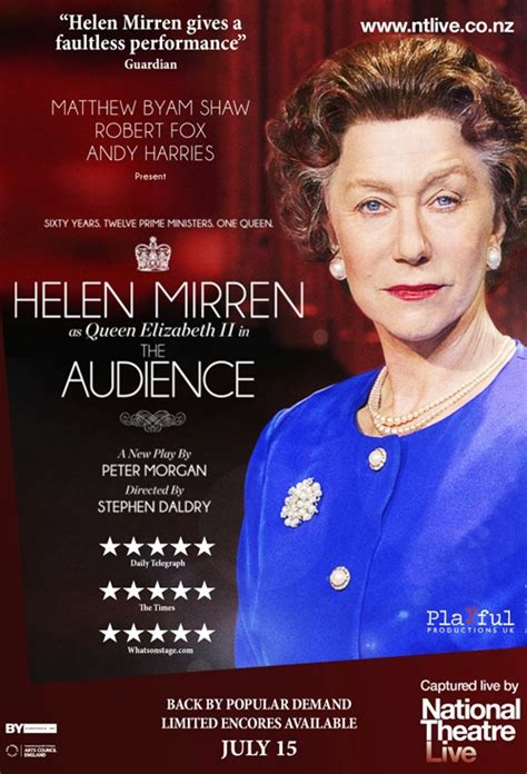 Poster for NT Live: The Audience | Flicks