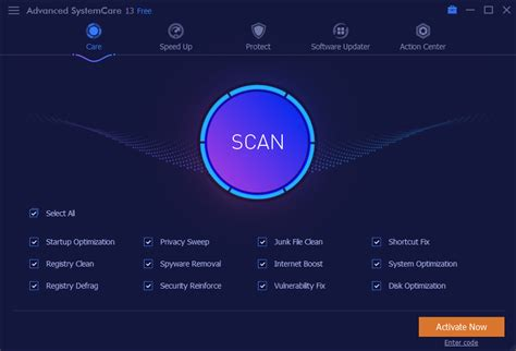 Advanced SystemCare Free Download, Speed up with Advanced