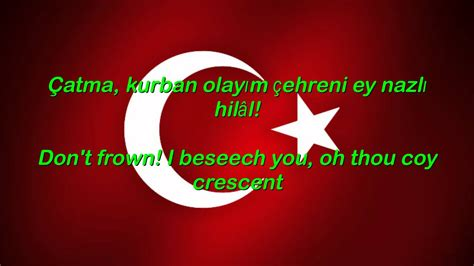 Istiklal Marsi - Turkey National Anthem English lyrics