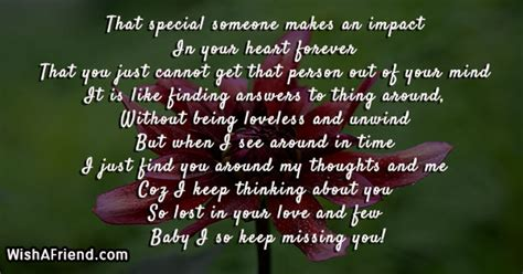 That special someone makes an impact, Thinking Of You