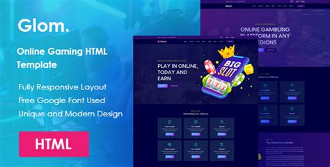 Glom - Online Gaming HTML Template - Download Free Nulled
