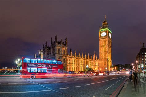 Photography of Westminster Bridge and Big Ben at night in